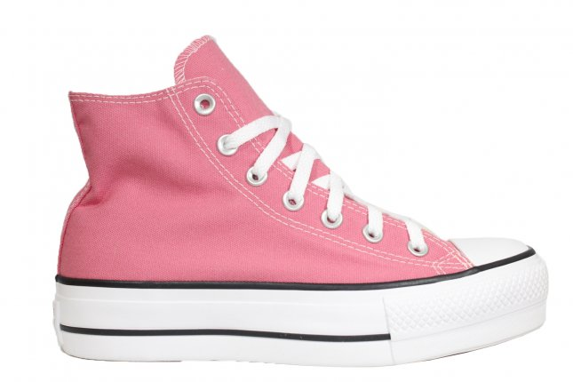 All Star Cano Longo Plataforma Rosa