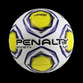 Imagem - Bola Society Penalty S11 R2 XXI Branco Amarelo  cód: 075975