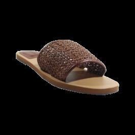 Imagem - Rasteira AnaCapri Marrom Chocolate Tira Tressê cód: 079309