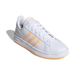 Imagem - Tênis Adidas Grand Court Branco Laranja  cód: 077288