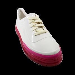 Imagem - Tênis Casual Melissa Classic Sneaker + BT21 Branco Rosa  cód: 077994