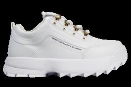 Imagem - Tênis Casual Ramarim Sneaker Branco Ouro cód: 076360