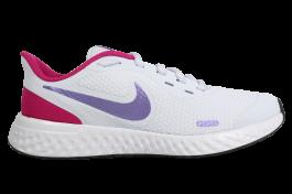 Imagem - Tênis Nike Revolution 5 Branco Rosa Infantil cód: 076003