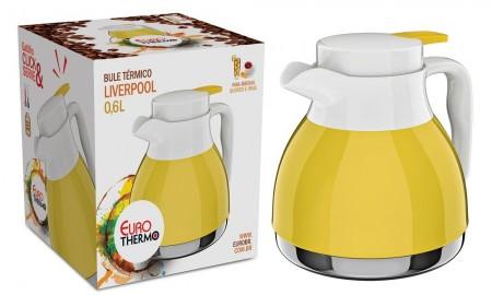 Bule Térmico Liverpool 0,6L Amarelo BT5799-AM - Euro Home