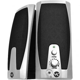 Imagem - Caixa de Som 2.0 USB 2W RMS VS-201S Preta/Prata - Vinik