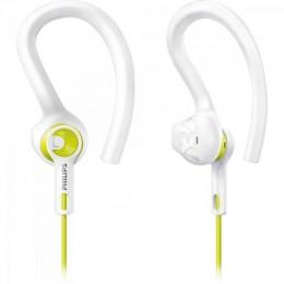 Imagem - Fone de Ouvido Esportivo 3 em 1 SHQ1400LF/00 Branco com Amarelo - Philips