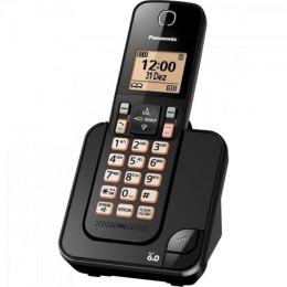 Imagem - Telefone sem Fio com ID KX-TGC350LBB Preto - Panasonic