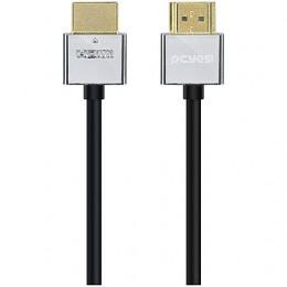 Imagem - Cabo HDMI 1.4V C/ Suporte 3D e Resolução 1080P Conectores de Metal e Tipo Slim 2M - Pcyes