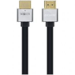 Imagem - Cabo HDMI 1.4V C/ Suporte 3D e Resolução 1080P Conectores de Metal e Tipo Flat 2M - Pcyes