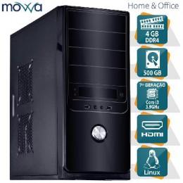 Imagem - Computador Hydro Intel I3 7100 3.9ghz 7ª Geração Memoria 4gb Hd 500gb MVHYFI3H1105004 Linux - Movva