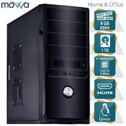 Imagem - Computador Hydro Intel I3 7100 3.9ghz 7ª Geração Memoria 4gb Hd 1tb Linux MVHYFI3H1101T4 - Movva