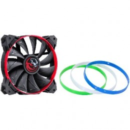 Imagem - Cooler Fan Gabinete 120mm Calafrio Rings com Anéis Coloridos Intercambiáveis FCAL120ANCL - Pcyes