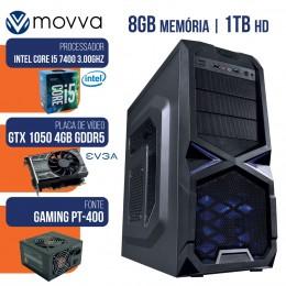 Imagem - Computador Gamer Mvx5 Intel I5 7400 Mem 8gb Hd 1tb 4gb Ddr5 128bits Fonte 400w Linux - Moova