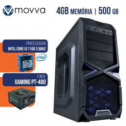 Imagem - Computador Gamer Intel I3 7100 3.9ghz 7ª 4gb Hd 500gb Fonte 400w Linux MVGAI3H1105004 - Moova
