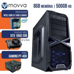 Imagem - Computador Gamer Mvx5 Intel I5 7400 7ª Mem 8gb Hd 500g Gtx 1050 2gb Ddr5 Fonte 400w Linux - Moova
