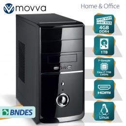 Imagem - Computador Nitro Intel I7 7700 7ª Ger Memoria 4gb Hd 1tb Linux Fonte 350w MVNII7H1101T4 - Moova
