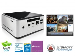 Imagem - Nvr Pro Multimídia Digifort Centrium Security Nuc Intel Core I3 4030u 4GB 1TB 4cam - Centrium