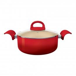 Imagem - Caçarola Intense 22cm Cerâmica Vermelha ALCI7480-VM - Euro Home