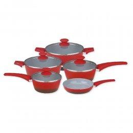 Imagem - Conjunto de Panelas 5 Peças 2.5 Revestimento Ceramico MCF-G535 Vermelho - Masterchef