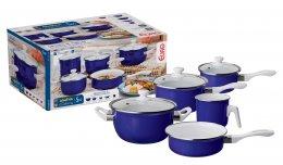 Imagem - Conjunto de Panelas Agatha Colors 5 Peças AGT3567 Azul - Euro Home
