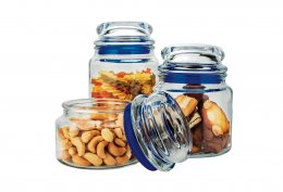 Imagem - Conjunto de Potes de Vidro Multiuso 3 Peças VDR9040-AZ Azul - Euro Home
