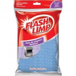 Imagem - Kit 5 Panos de Limpeza Multiuso Azul FLP7440 - Flashlimp