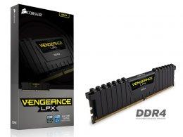 Imagem - Memória Vengeance LPX 8GB 2400Mhz DDR4 CL14 Black CMK8GX4M1A2400C14 - Corsair