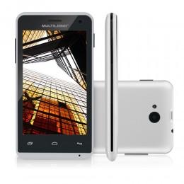 Imagem - Smartphone MS40 P9008, Quad Core, 4Gb, Dual Chip, Branco - Multilaser