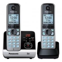 Imagem - Telefone sem Fio com Base + Ramal KX-TG6722 Preto/Prata PANASONIC