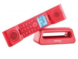 Imagem - Telefones sem Fio Icon 4128528 TS8520 Vermelho com Identificador Chamada e Viva Voz - Intelbras
