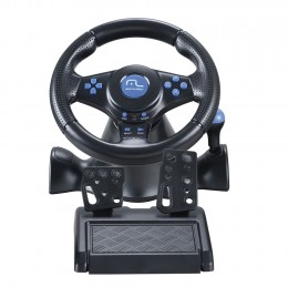 Imagem - Volante Gamer Racer JS073, USB, P/ PS2/PS3/PC  - Multilaser