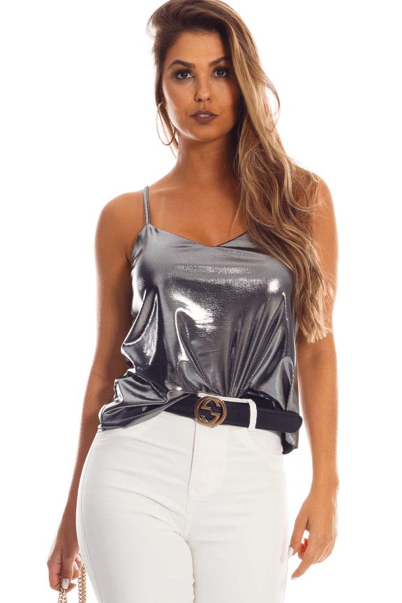Blusa Metalizada de Alcinha