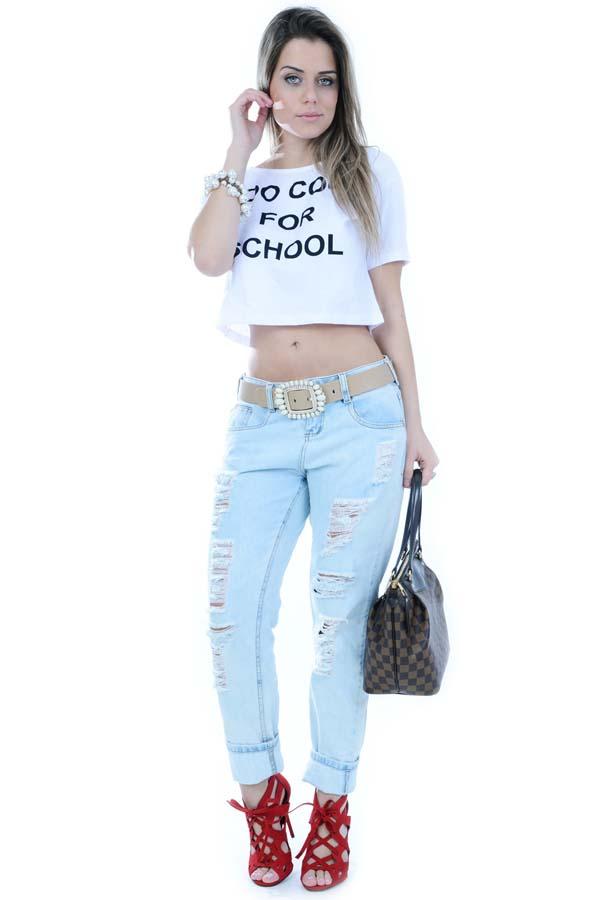 0bbe76be1 Calça Jeans Boyfriend Clara