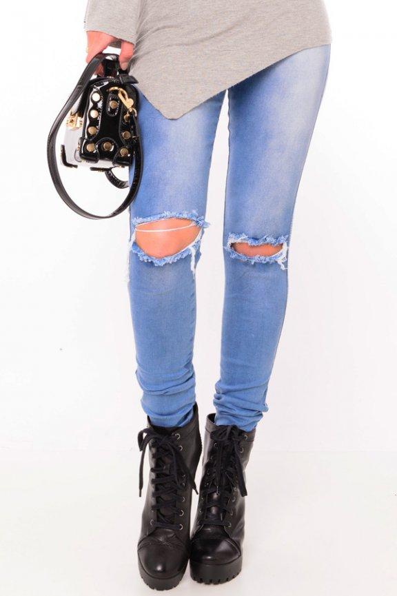 Calca Jeans Hot Pants com Botões