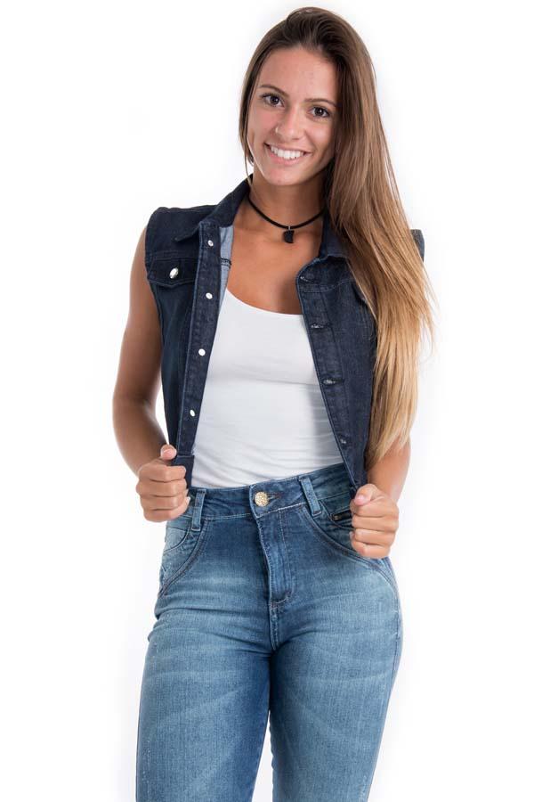 Colete Curto Jeans