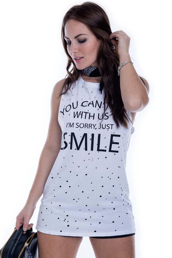 Regata Smile com Detalhe Vazado