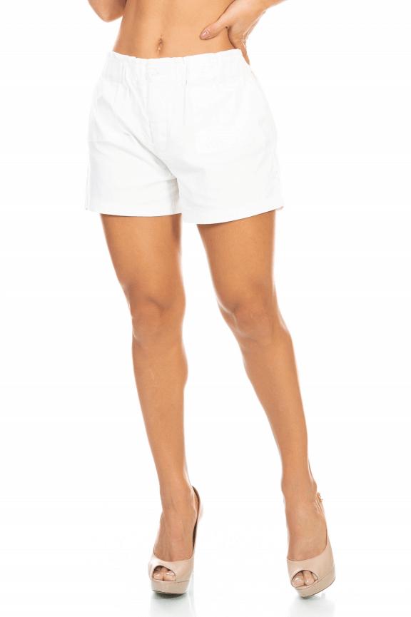 Shorts em Linho com Bolsos