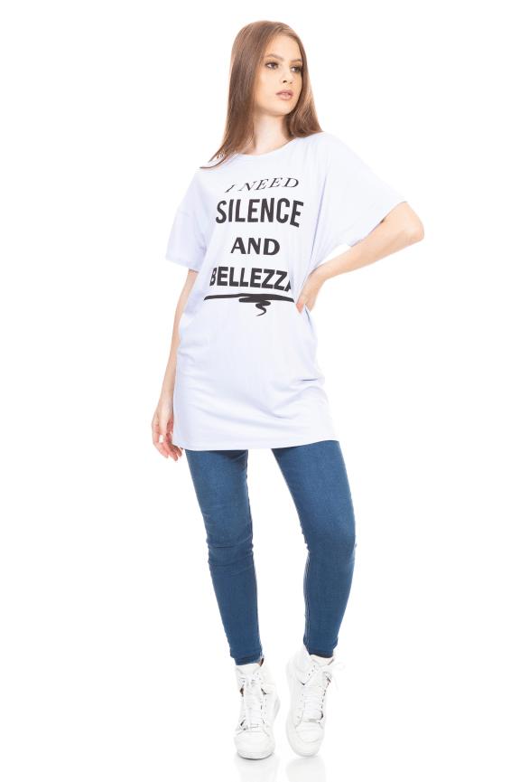 T-shirt Dress com Estampa