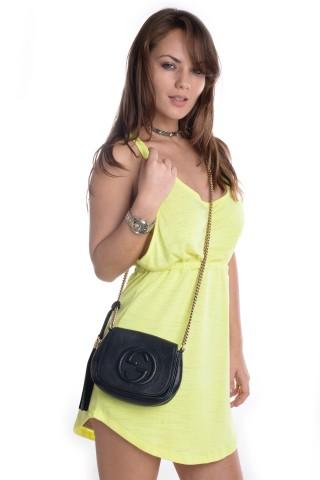 Vestido Neon com Bolso
