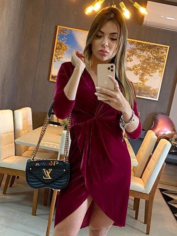 Vestido Velvet com Transpasse