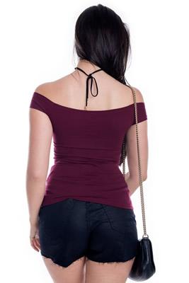 Imagem - Blusa Básica com Decote Transpassado