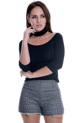 Imagem - Blusa Básica com Gola Rolê