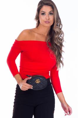 Imagem - Blusa Canelada Ombro a Ombro