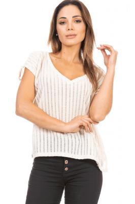 Imagem - Blusa Clássica com Gola V