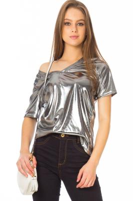 Imagem - Blusa Metalizada Decote V