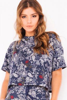 Imagem - Blusa Cropped em Moletinho Estampado
