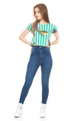 Imagem - Blusa Cropped Estampada