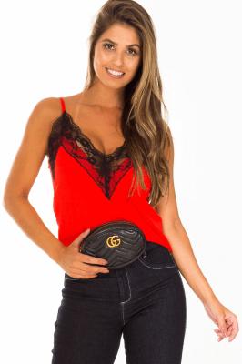 Imagem - Blusa de Alcinha com Renda no Decote