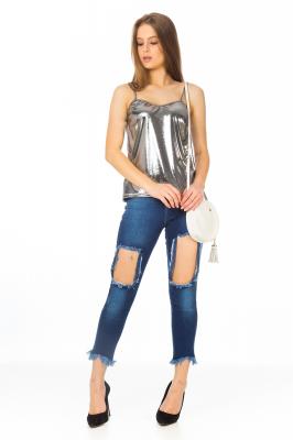 Imagem - Blusa Metalizada de Alcinha