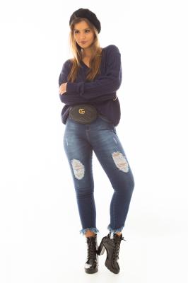 Imagem - Blusa de Tricô com Decote V